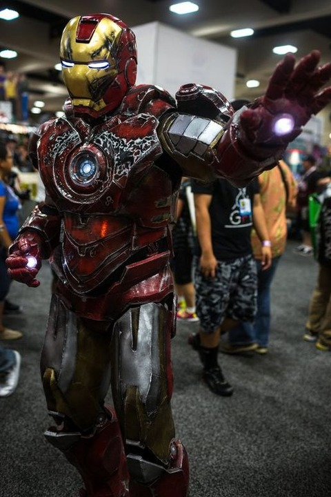 Battle-damanged Iron Man Mark VII