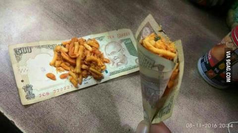 「インドが偽札問題に対策するため高額紙幣を廃止に」海外の反応