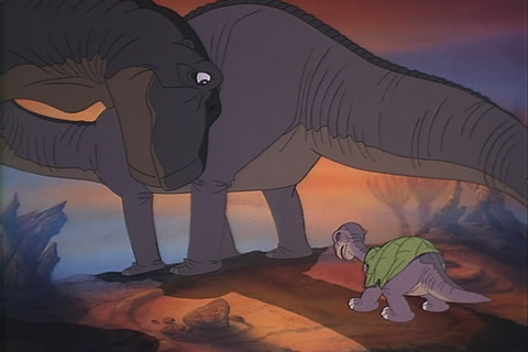 Littlefoot_with_Mother