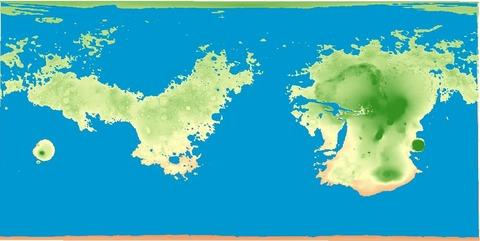 「地球同様に表面の71%を水で覆った火星の地図」海外の反応