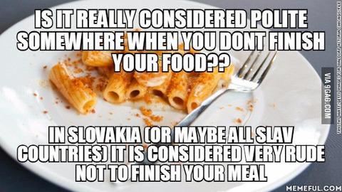 「料理を少し残すことが礼儀正しいとする国があるのは本当なのか?」海外の反応