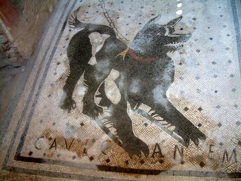 「古代ポンペイの『猛犬注意』の画にジョジョネタの嵐」海外の反応