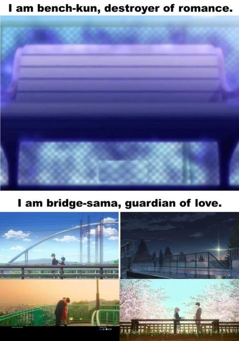 「アニメにおいてベンチは『愛の破壊者』で、橋は『愛の守護者』」海外の反応