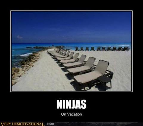 Ninja-On-Vacation-Funny-Ninja-Meme-Picture