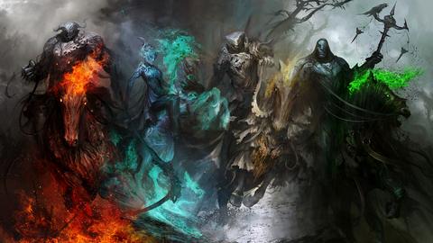 「外国人が描いた『ヨハネの黙示録の四騎士』のイラストが話題に」海外の反応