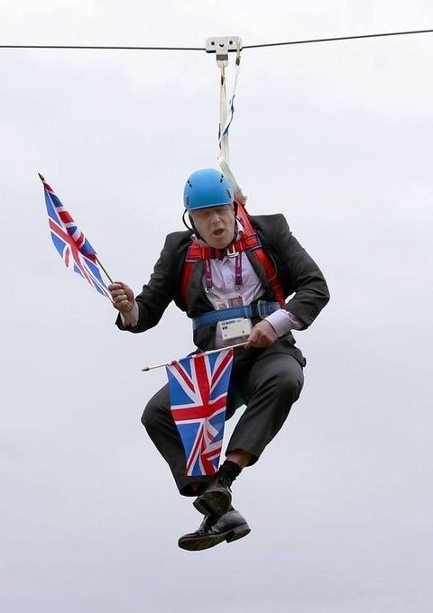 Boris-Johnson-caught-on-a-zipwire