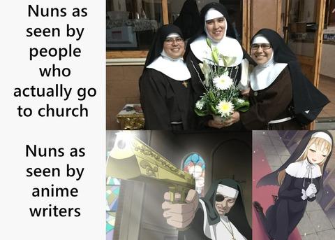 外国人「アニメに出てくる修道女は銃を所持しがち」海外の反応