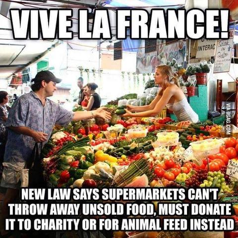 「フランスが大手スーパーの食品廃棄を禁止。寄付か転用義務付け」海外の反応