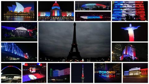 「フランス同時テロに対し各国が哀悼の意を示すため建物を仏国旗色にライトアップ」海外の反応