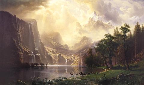 Albert_Bierstadt,_Among