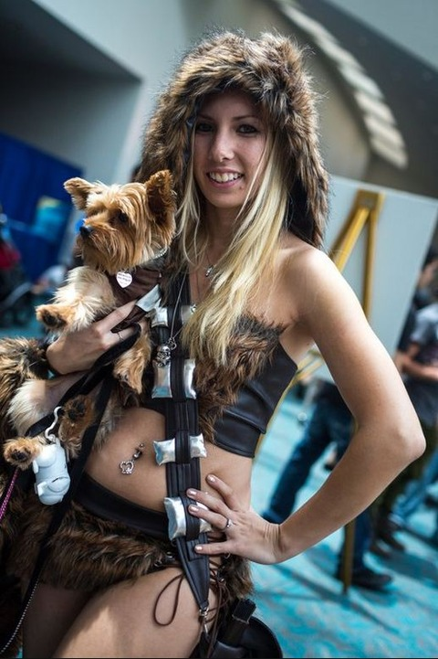 Lady Chewie and puppy