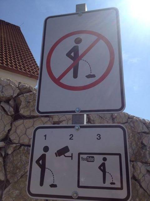 「とある行為を防止するためのチェコの標識が海外で話題に」海外の反応