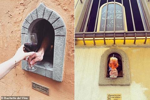 「17世紀のペスト流行で使われたイタリアの『ワインの窓』がコロナ禍で再活用される」海外の反応