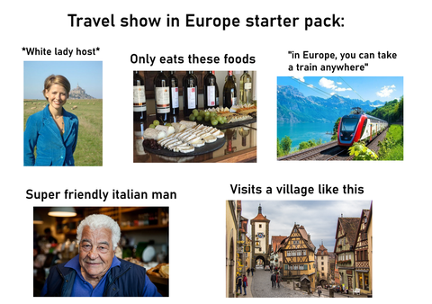 「ヨーロッパの旅行番組にありがちなこと」海外の反応