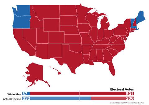 「前回の米国大統領選挙が白人男性だけの投票ならオバマが惨敗だった」海外の反応