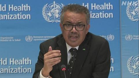 「WHOのテドロス事務局長の辞任求める署名が70万件以上に」海外の反応