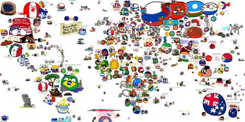 「2016年版ポーランドボール世界地図のイラスト」海外の反応