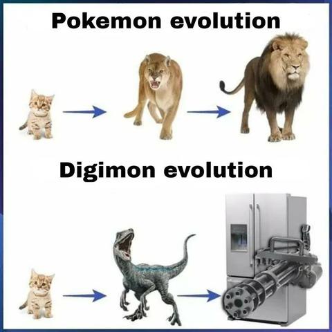 外国人「『ポケモンの進化』と『デジモンの進化』の違い」海外の反応