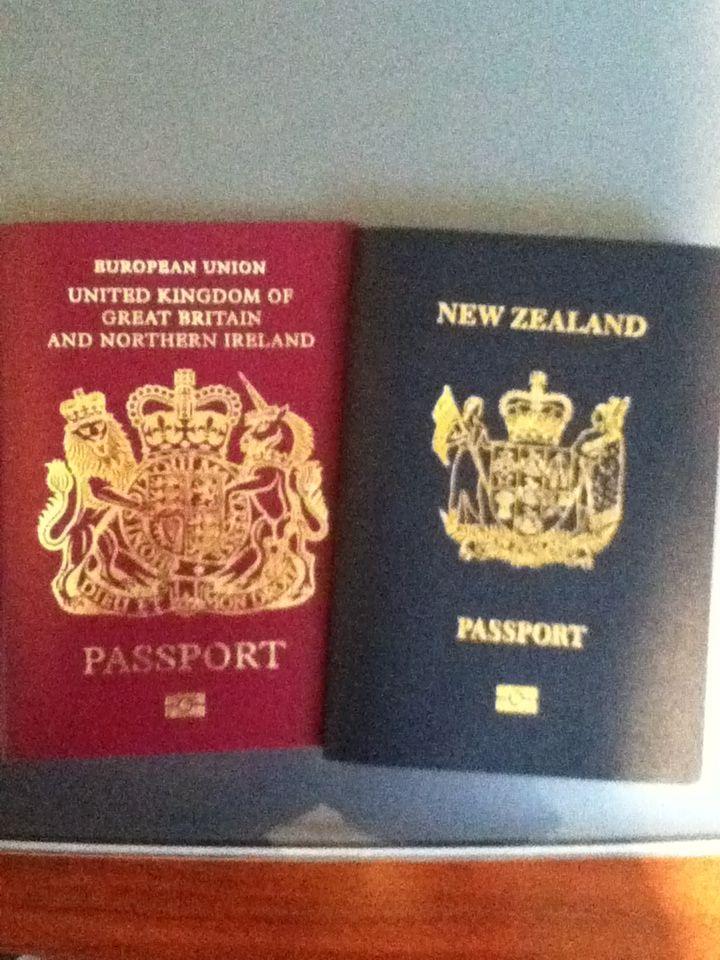 パスポートUKニュージーランド