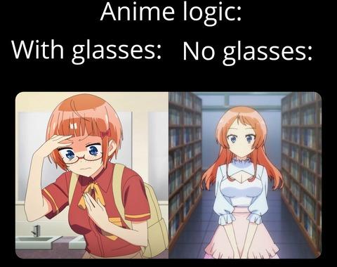 外国人「アニメで女の子が眼鏡を外すと可愛くなるアレ」海外の反応