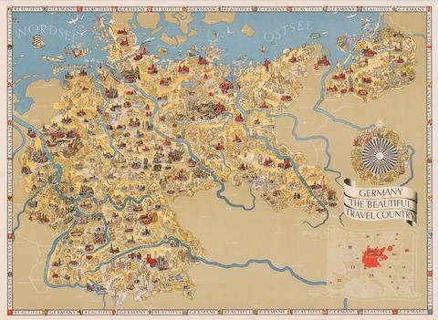 「1930年代に制作されたドイツの旅行マップ」海外の反応
