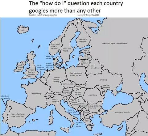 「欧州各国が『どうすれば自分は~』でググっていること」海外の反応