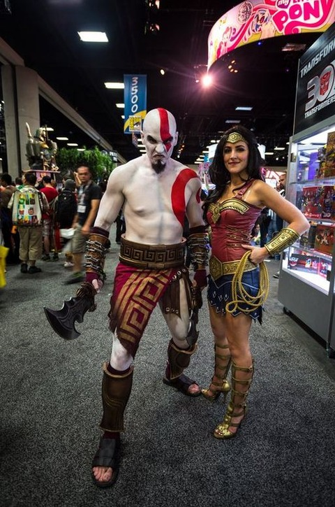 Kratos and Wonder Woman