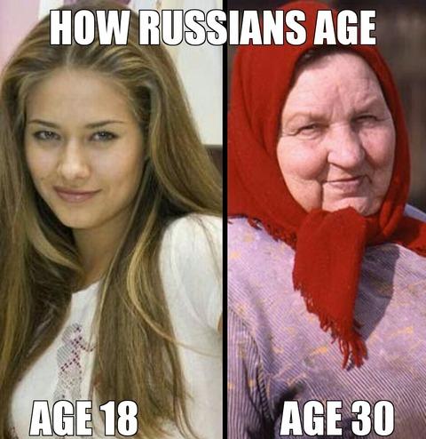「ロシア人女性は一定の年齢を超えると急に老けると海外掲示板で話題に」海外の反応