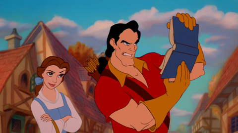 Gaston-only-reads-books-with-pictures-
