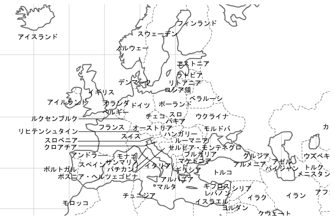 白地図 ヨーロッパ 白地図 フリー : 外国人「白地図にヨーロッパの ...