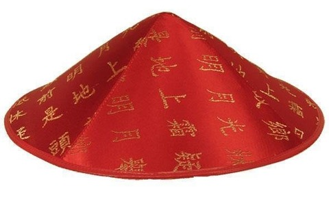 chinese-hat-red