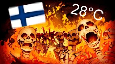 「現在のフィンランドは気温28℃の灼熱地獄」海外の反応