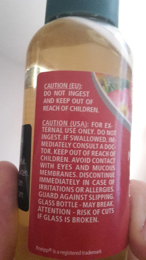 「欧州とアメリカでボトルに書かれている注意事項が全然違う」海外の反応