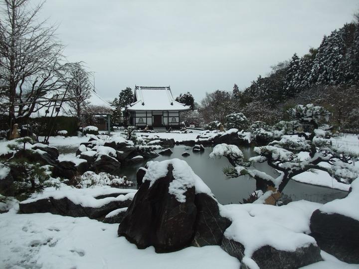 奥院庭園池越し阿弥陀堂 (大)