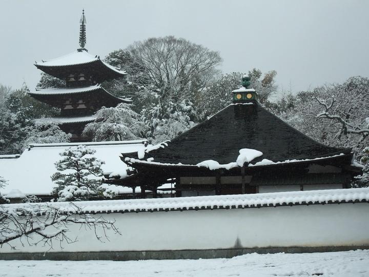 中之坊本堂と東塔 (大)