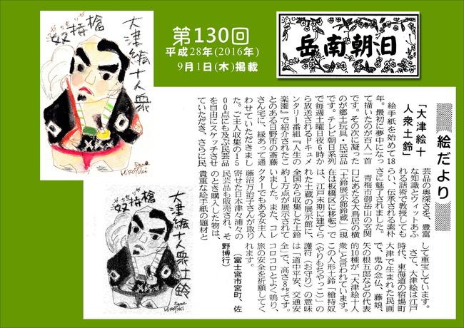 280901岳南朝日新聞(大津絵十人衆土鈴)