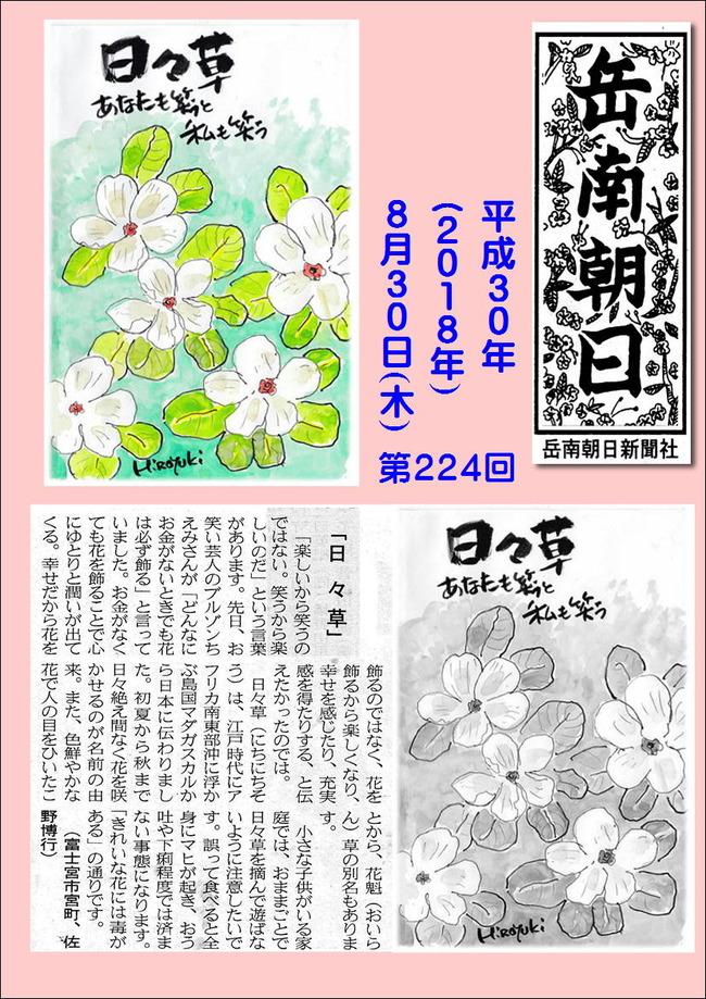 300830日々草(岳南新聞)