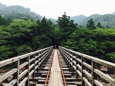 軌道の橋を登山屋久島 - コピー