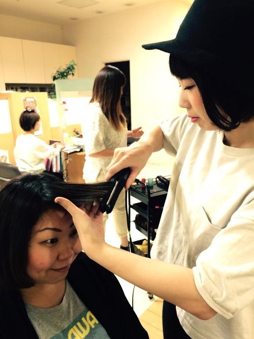 前髪の流し方 パート1☆