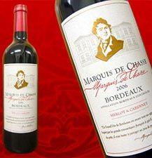6本setフランス メルロー&カベルネ2006 MARQUIS DE CHASSE