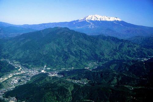 上松町と御嶽山 御岳海