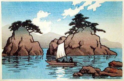 川瀬巴水 松島islands 中
