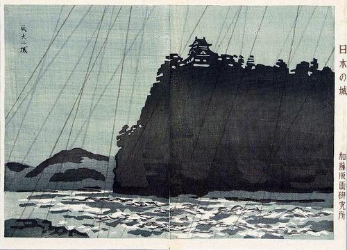 上原古年(こうねん)雨犬山城
