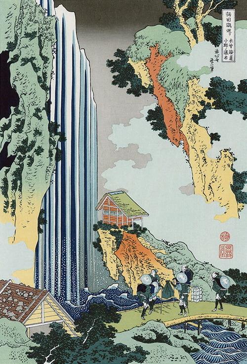 39北斎 小野の滝