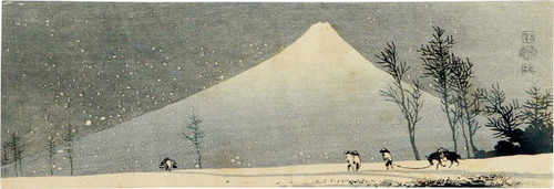 上原古年(こうねん)富士の雪