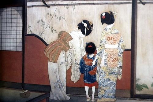 北野恒富  宵宮の雨 1928 (大阪市立美術館蔵) 大