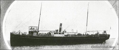 商船三井120年 朝日丸 307t 1884 大阪商船