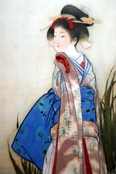 北野恒富  燕子花 (杜若 カキツバタ)1907 頃