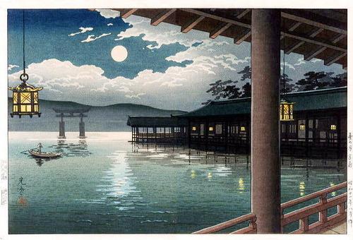 曇りの月 宮島