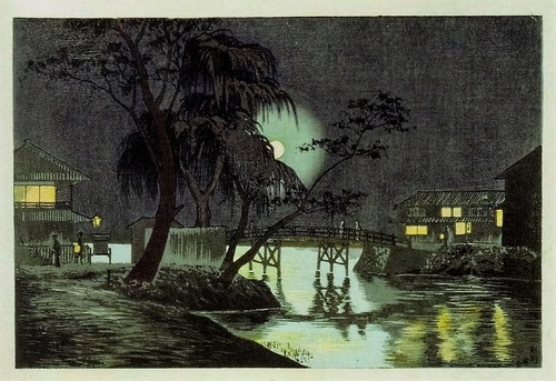 今戸橋茶亭の月夜 1877